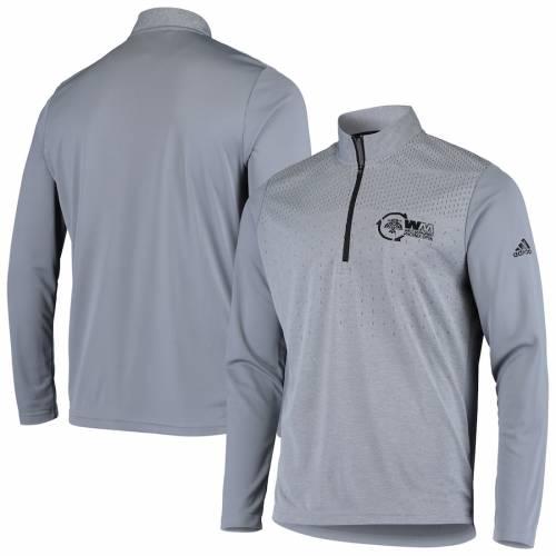 アディダス ADIDAS フェニックス 灰色 グレー グレイ メンズファッション コート ジャケット メンズ 【 Waste Management Phoenix Open Quarter-zip Pullover Jacket - Gray 】 Gray