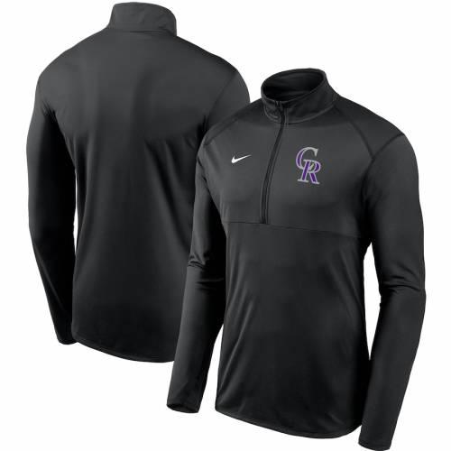 ナイキ NIKE コロラド ロッキーズ チーム ロゴ エレメント パフォーマンス 黒 ブラック メンズファッション コート ジャケット メンズ 【 Colorado Rockies Team Logo Element Performance Half-zip Pullover