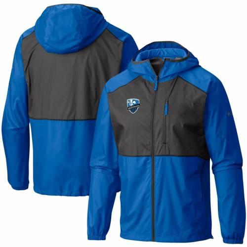 コロンビア COLUMBIA インパクト ウィンドブレーカー 青 ブルー メンズファッション コート ジャケット メンズ 【 Montreal Impact Flash Forward Windbreaker Jacket - Blue 】 Blue