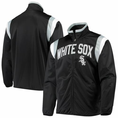 G-III SPORTS BY CARL BANKS シカゴ 白 ホワイト トラック 黒 ブラック メンズファッション コート ジャケット メンズ 【 Chicago White Sox Post Up Full-zip Track Jacket - Black 】 Black