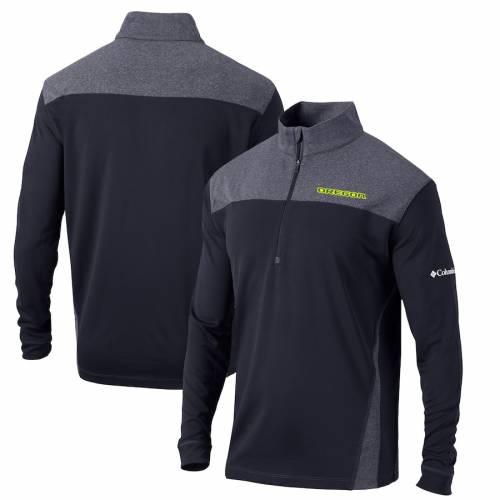 コロンビア COLUMBIA オレゴン スタンダード 黒 ブラック メンズファッション コート ジャケット メンズ 【 Oregon Ducks Omni-wick Standard Quarter-zip Pullover Jacket - Black 】 Black