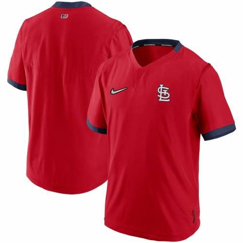 ナイキ NIKE カーディナルス オーセンティック コレクション スリーブ St. メンズファッション コート ジャケット メンズ 【 St. Louis Cardinals Authentic Collection Short Sleeve Hot Pullover Jacket - Red/na