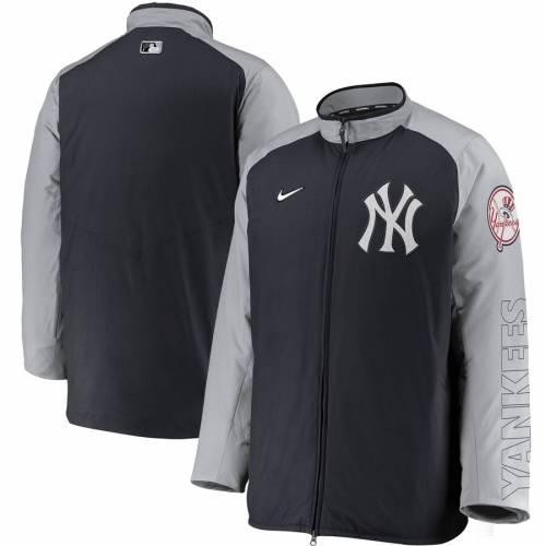 ナイキ NIKE ヤンキース オーセンティック コレクション 黒 ブラック メンズファッション コート ジャケット メンズ 【 New York Yankees Authentic Collection Dugout Full-zip Jacket - Black 】 Navy