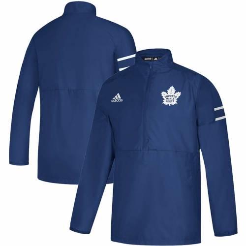 アディダス ADIDAS トロント ゲーム 青 ブルー メンズファッション コート ジャケット メンズ 【 Toronto Maple Leafs Game Mode Quarter-zip Pullover Jacket - Blue 】 Blue