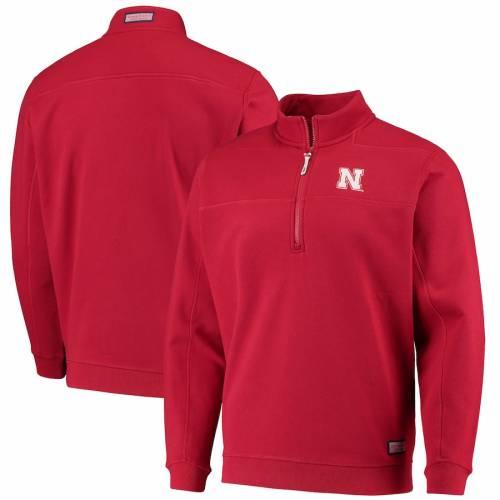 VINEYARD VINES メンズファッション コート ジャケット メンズ 【 Nebraska Cornhuskers Collegiate Shep Shirt Quarter-zip Jacket - Scarlet 】 Scarlet