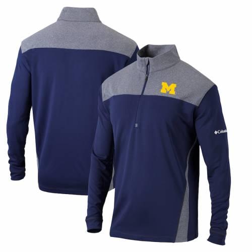 コロンビア COLUMBIA ミシガン スタンダード 紺 ネイビー メンズファッション コート ジャケット メンズ 【 Michigan Wolverines Omni-wick Standard Quarter-zip Pullover Jacket - Navy 】 Navy