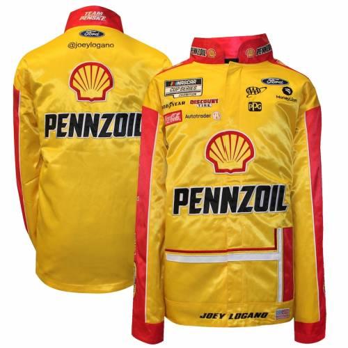 SMI PROPERTIES 黄色 イエロー メンズファッション コート ジャケット メンズ 【 Joey Logano Shell/pennzoil Full-snap Pit Jacket - Yellow 】 Yellow