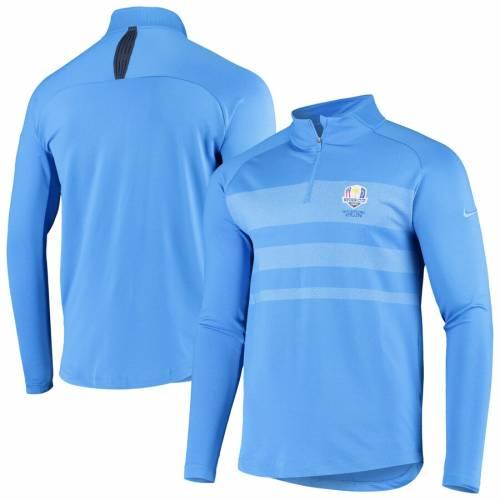ナイキ NIKE パフォーマンス 青 ブルー メンズファッション コート ジャケット メンズ 【 2020 Ryder Cup Vapor Half-zip Performance Pullover Jacket - Blue 】 Blue