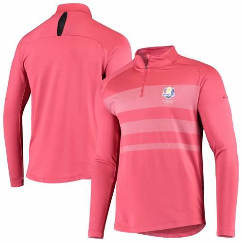 ナイキ NIKE パフォーマンス 青 ブルー メンズファッション コート ジャケット メンズ 【 2020 Ryder Cup Vapor Half-zip Performance Pullover Jacket - Blue 】 Red