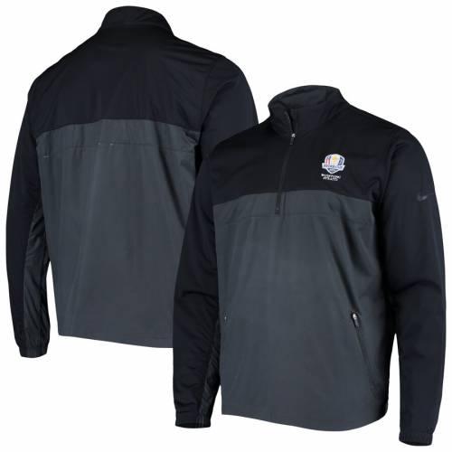 ナイキ NIKE パフォーマンス ウィンドブレーカー 黒 ブラック メンズファッション コート ジャケット メンズ 【 2020 Ryder Cup Performance Half-zip Pullover Windbreaker Jacket - Black 】 Black