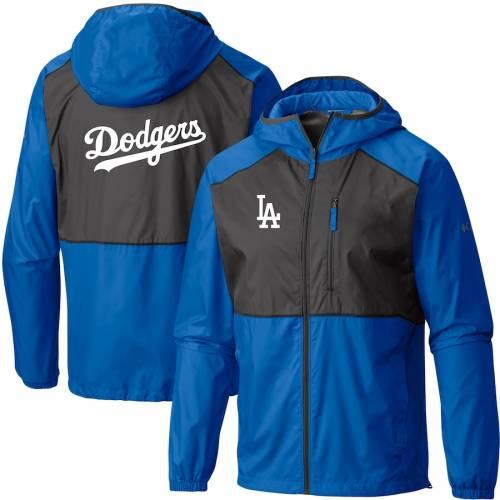 コロンビア COLUMBIA ドジャース チーム ウィンドブレーカー メンズファッション コート ジャケット メンズ 【 Los Angeles Dodgers Team Flash Forward Full-zip Windbreaker Jacket - Royal/gray 】 Royal/gray