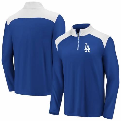 FANATICS BRANDED ドジャース チーム スクリメージ メンズファッション コート ジャケット メンズ 【 Los Angeles Dodgers Big And Tall Team Scrimmage Quarter-zip Pullover Jacket - Royal/white 】 Royal/white