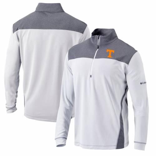 コロンビア COLUMBIA テネシー スタンダード 白 ホワイト メンズファッション コート ジャケット メンズ 【 Tennessee Volunteers Omni-wick Standard Quarter-zip Pullover Jacket - White 】 White