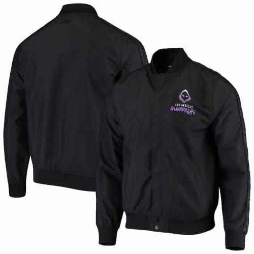 OUTERSTUFF オーセンティック 黒 ブラック メンズファッション コート ジャケット メンズ 【 Los Angeles Guerrillas Authentic Full-snap Jacket - Black 】 Black