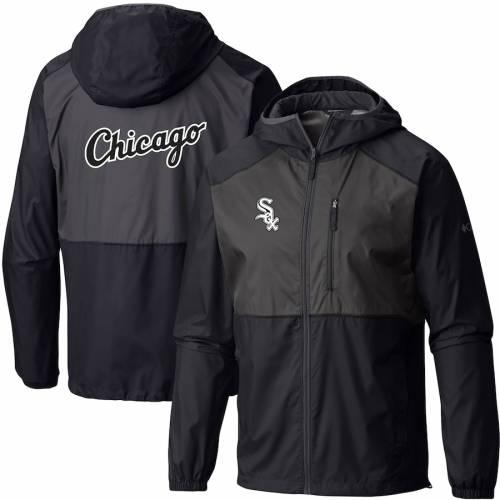 コロンビア COLUMBIA シカゴ 白 ホワイト チーム ウィンドブレーカー メンズファッション コート ジャケット メンズ 【 Chicago White Sox Team Flash Forward Full-zip Windbreaker Jacket - Black/gray 】 Black/gr