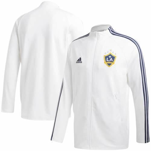 アディダス ADIDAS 白 ホワイト メンズファッション コート ジャケット メンズ 【 La Galaxy 2020 On-field Anthem Full-zip Jacket - White 】 White