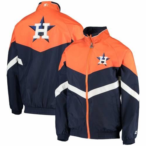 スターター STARTER ヒューストン アストロズ メンズファッション コート ジャケット メンズ 【 Houston Astros The Bench Coach Full-zip Jacket - Navy/orange 】 Navy/orange