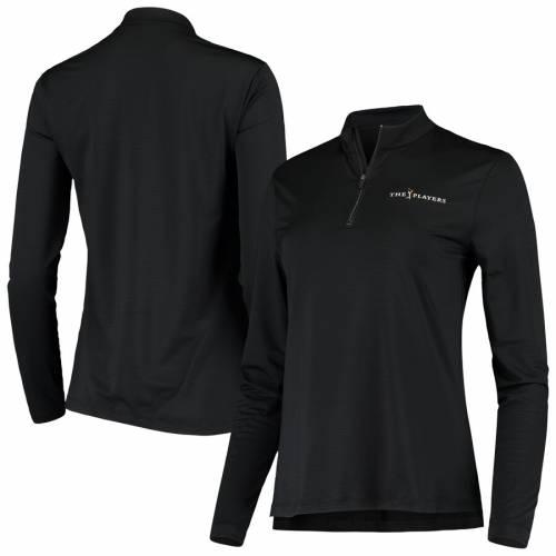ナイキ NIKE レディース ビクトリー パフォーマンス 黒 ブラック 【 The Players Womens Victory Half-zip Performance Pullover Jacket - Black 】 Black