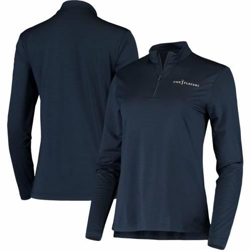 【スーパーセール中! 6/11深夜2時迄】ナイキ NIKE レディース ビクトリー パフォーマンス 【 The Players Womens Victory Half-zip Performance Pullover Jacket 】 Navy
