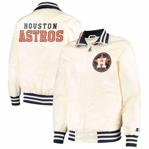 スターター STARTER ヒューストン アストロズ クリーム メンズファッション コート ジャケット メンズ 【 Houston Astros The Captain Ii Full-zip Jacket - Cream 】 Cream