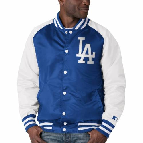 スターター STARTER ドジャース メンズファッション コート ジャケット メンズ 【 Los Angeles Dodgers The Lead Off Hitter Full-snap Jacket - Royal/white 】 Royal/white
