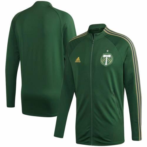 アディダス ADIDAS ポートランド 緑 グリーン メンズファッション コート ジャケット メンズ 【 Portland Timbers 2020 On-field Anthem Full-zip Jacket - Green 】 Green