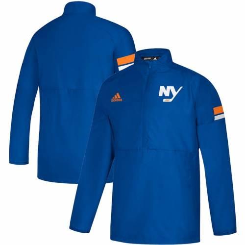 アディダス ADIDAS ゲーム メンズファッション コート ジャケット メンズ 【 New York Islanders Game Mode Quarter-zip Pullover Jacket - Royal 】 Royal