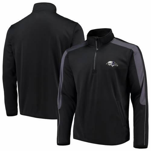 G-III SPORTS BY CARL BANKS ボルティモア レイブンズ 黒 ブラック メンズファッション コート ジャケット メンズ 【 Baltimore Ravens I Formation Quarter-zip Pullover Jacket - Black 】 Black