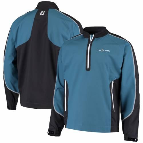 FOOTJOY メンズファッション コート ジャケット メンズ 【 The Players Sport Windshirt Half-zip Jacket - Teal 】 Teal