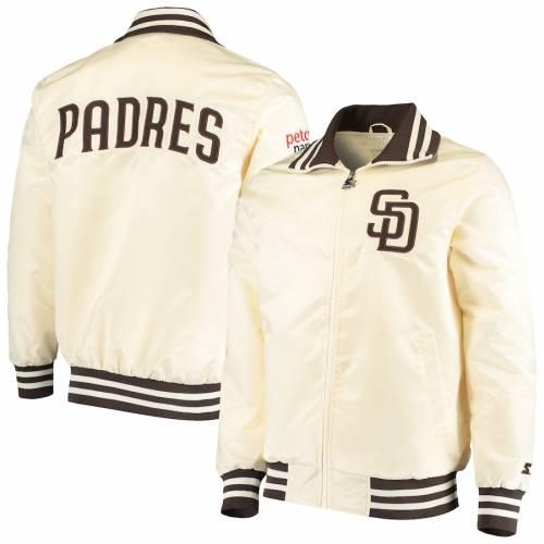 スターター STARTER パドレス クリーム メンズファッション コート ジャケット メンズ 【 San Diego Padres The Captain Ii Full-zip Jacket - Cream 】 Cream