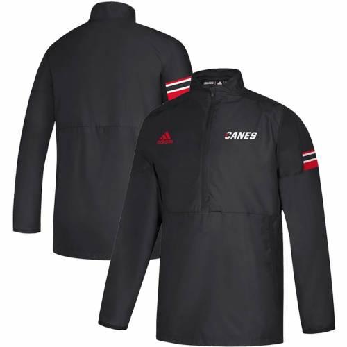 アディダス ADIDAS カロライナ ゲーム 黒 ブラック メンズファッション コート ジャケット メンズ 【 Carolina Hurricanes Game Mode Quarter-zip Pullover Jacket - Black 】 Black