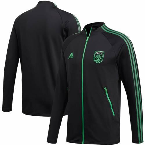 アディダス ADIDAS 黒 ブラック メンズファッション コート ジャケット メンズ 【 Austin Fc 2020 On-field Anthem Full-zip Jacket - Black 】 Black