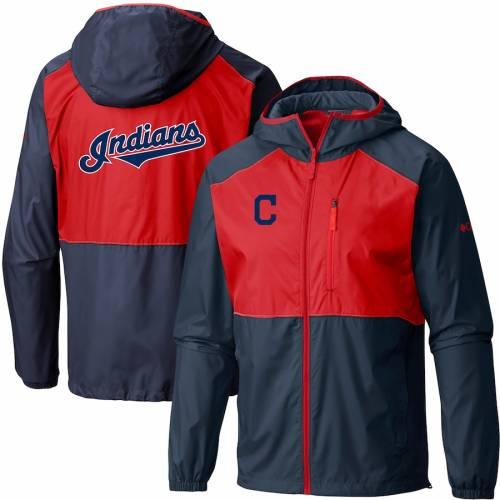 コロンビア COLUMBIA クリーブランド インディアンズ チーム ウィンドブレーカー メンズファッション コート ジャケット メンズ 【 Cleveland Indians Team Flash Forward Full-zip Windbreaker Jacket - Navy/r