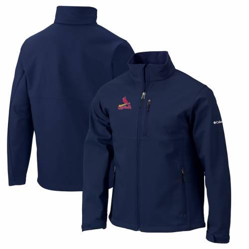 コロンビア COLUMBIA カーディナルス 紺 ネイビー St. メンズファッション コート ジャケット メンズ 【 St. Louis Cardinals Ascender Full-zip Softshell Jacket - Navy 】 Navy