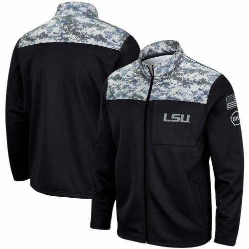 COLOSSEUM タイガース フリース チャコール メンズファッション コート ジャケット メンズ 【 Lsu Tigers Oht Military Appreciation Fleece Full-zip Jacket - Charcoal 】 Charcoal
