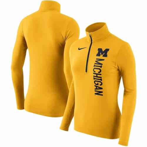 ナイキ NIKE ミシガン レディース エレメント 【 Michigan Wolverines Womens Dry Element Quarter-zip Pullover Jacket - Maize 】 Maize