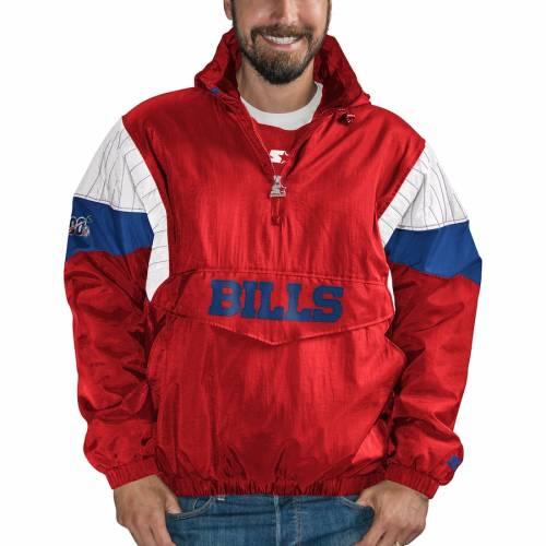 スターター STARTER バッファロー ビルズ ナイト メンズファッション コート ジャケット メンズ 【 Buffalo Bills Nfl 100 Thursday Night Lights Quarter-zip Breakaway Jacket - Red/royal 】 Red/royal