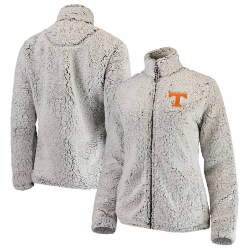 BOXERCRAFT テネシー レディース 灰色 グレー グレイ 【 Tennessee Volunteers Womens Sherpa Full-zip Jacket - Heathered Gray 】 Heathered Gray