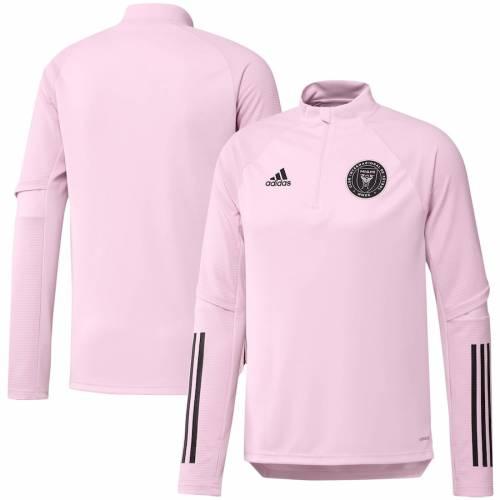 アディダス ADIDAS マイアミ トレーニング ピンク ? メンズファッション コート ジャケット メンズ 【 Inter Miami Cf Quarter-zip Training Jacket ? Pink 】 Zip Training Jacket ? Pink