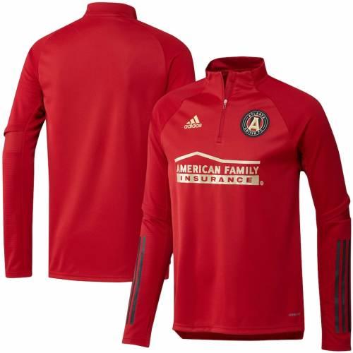 アディダス ADIDAS アトランタ トレーニング 赤 レッド ? メンズファッション コート ジャケット メンズ 【 Atlanta United Fc Quarter-zip Training Jacket ? Red 】 Zip Training Jacket ? Red