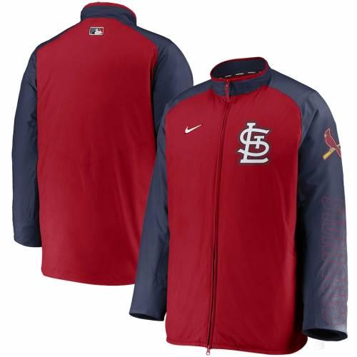 ナイキ NIKE カーディナルス オーセンティック コレクション St. メンズファッション コート ジャケット メンズ 【 St. Louis Cardinals Authentic Collection Dugout Full-zip Jacket - Red/navy 】 Red/navy