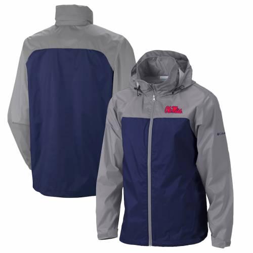 コロンビア COLUMBIA 紺 ネイビー メンズファッション コート ジャケット メンズ 【 Ole Miss Rebels Glennaker Lake Ii Packable Full-zip Rain Jacket - Navy 】 Navy