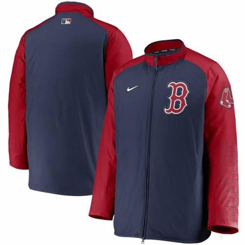 ナイキ NIKE ボストン 赤 レッド オーセンティック コレクション メンズファッション コート ジャケット メンズ 【 Boston Red Sox Authentic Collection Dugout Full-zip Jacket - Navy/red 】 Navy