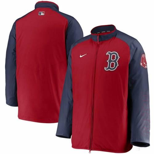 ナイキ NIKE ボストン 赤 レッド オーセンティック コレクション メンズファッション コート ジャケット メンズ 【 Boston Red Sox Authentic Collection Dugout Full-zip Jacket - Navy/red 】 Red