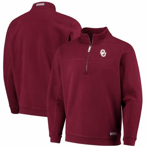 VINEYARD VINES メンズファッション コート ジャケット メンズ 【 Oklahoma Sooners Collegiate Shep Shirt Quarter-zip Jacket - Crimson 】 Crimson