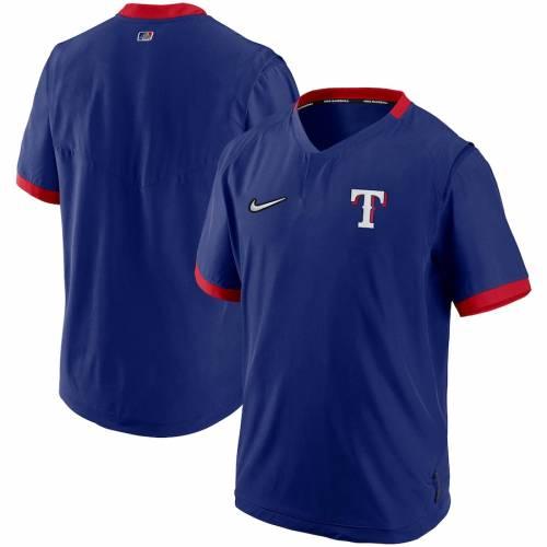 ナイキ NIKE テキサス レンジャーズ オーセンティック コレクション スリーブ メンズファッション コート ジャケット メンズ 【 Texas Rangers Authentic Collection Short Sleeve Hot Pullover Jacket - Royal/