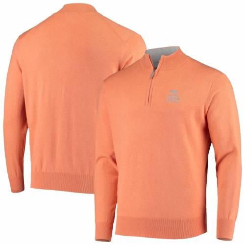 PETER MILLAR 橙 オレンジ メンズファッション コート ジャケット メンズ 【 2020 Pga Championship Crown Soft Quarter-zip Pullover Jacket - Heathered Orange 】 Heathered Orange