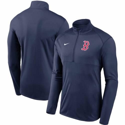 ナイキ NIKE ボストン 赤 レッド チーム ロゴ エレメント パフォーマンス 紺 ネイビー メンズファッション コート ジャケット メンズ 【 Boston Red Sox Team Logo Element Performance Half-zip Pullover Jac