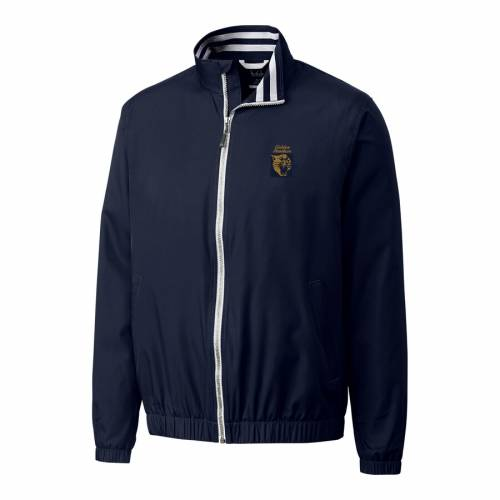 CUTTER & BUCK パンサーズ ロゴ 紺 ネイビー メンズファッション コート ジャケット メンズ 【 Fiu Panthers Cutter And Buck Nine Iron Vault Logo Full Zip Jacket - Navy 】 Navy