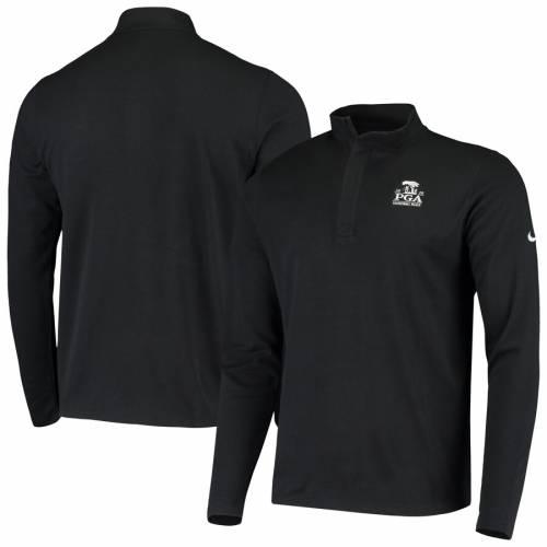 ナイキ NIKE ビクトリー パフォーマンス 黒 ブラック メンズファッション コート ジャケット メンズ 【 2020 Pga Championship Victory Performance Half-zip Pullover Jacket - Black 】 Black